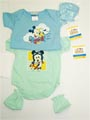 Infants Mickey newborn romper with shoes