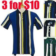 3 for $10 Men's short sleeve stripe polo short
