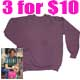 3 for $10 Ladies Hanes her weight crew neck sweat shirt