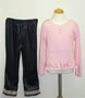 Girl's t-shirt with velour pant set