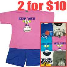 2 for $10 Junior boy's short set