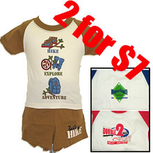 2 for $7 Toddler boy's t-shirt with short set