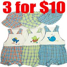 "3 for $10  Infant's ""Romper"" with hat"